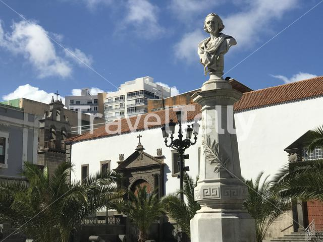 Plaza de san francisco in Las Palmas Gran Canaria Canary Islands
