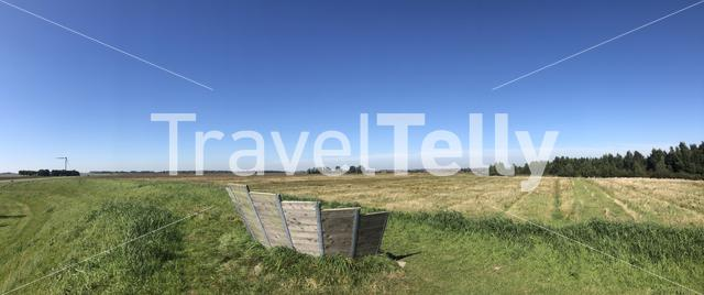 Panorama from Lauwersmeer National Park, Friesland The Netherlands