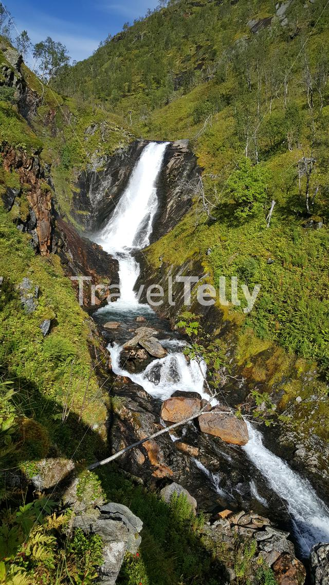 Waterfall at Moysalen National Park Norway