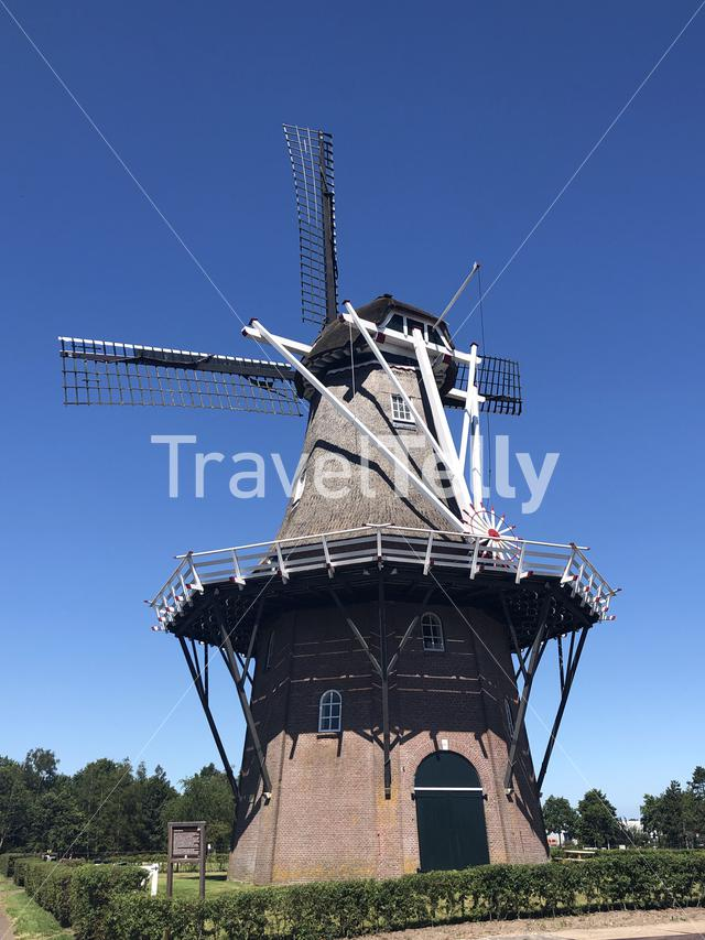 Windmill in Sumar, Friesland, The Netherlands