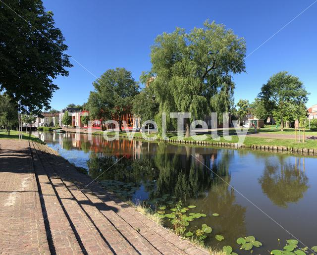 Canal in Sneek, Fiesland The Netherlands