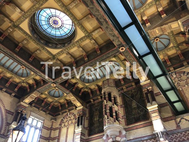 Interior of Groningen Central Station in The Netherlands