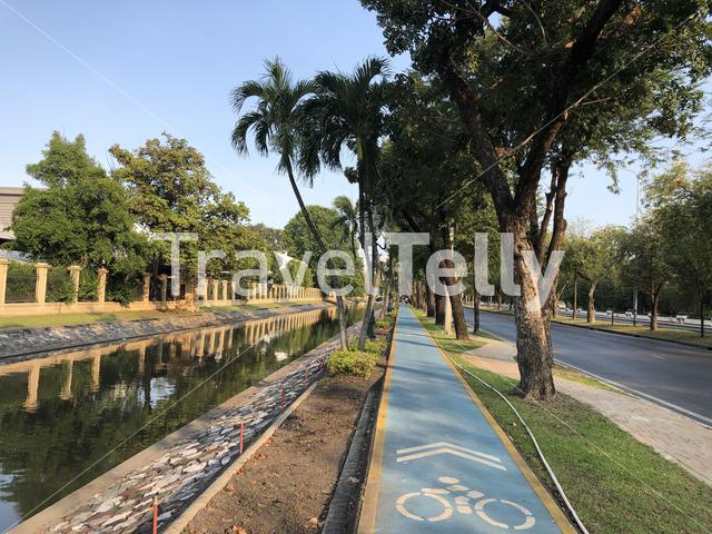 Bicyle path in Bangkok, Thailand