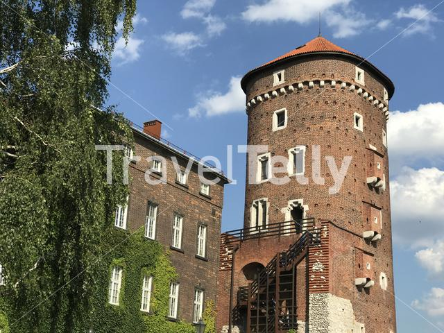 Tower at the Wawel Royal Castle in Krakow Poland