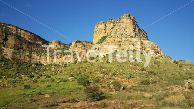 Rocks at Golden Gate Highlands National Park in South Africa
