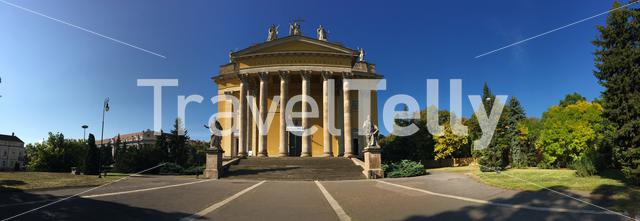 Panorama from the Cathedral Basilica of St. John the Apostle in Eger Hungary