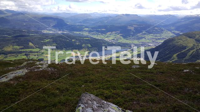 Beautiful landscape seen from the Lonahorgi mountain in Norway