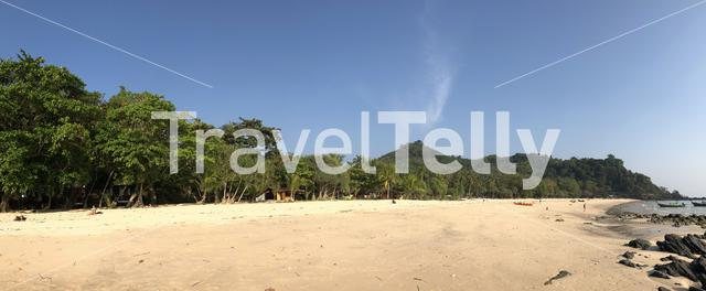 Panorama from Farang beach on Koh Mook Thailand