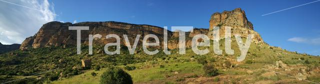 Panorama from Golden Gate Highlands National Park in South Africa