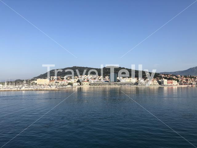 Skyline and waterfront of Split Croatia