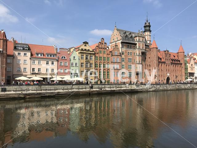 Architecture at the waterfront in Gdanks Poland