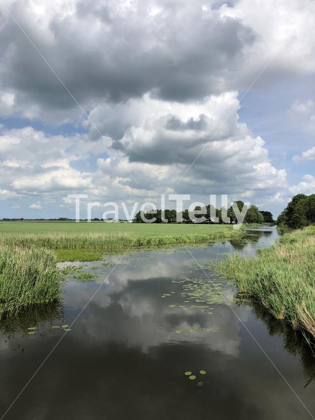 Canal in Friesland, The Netherlands