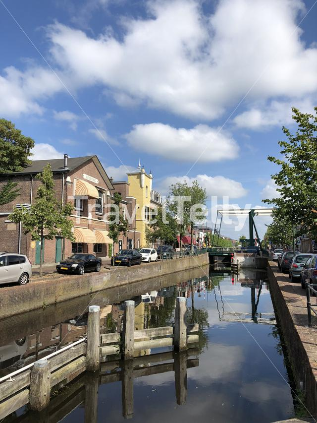 Canal in Gorredijk, Friesland The Netherlands