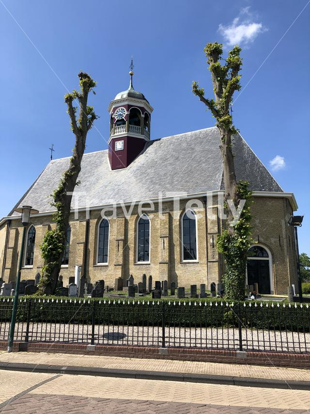 Domed church in Witmarsum, Friesland The Netherlands