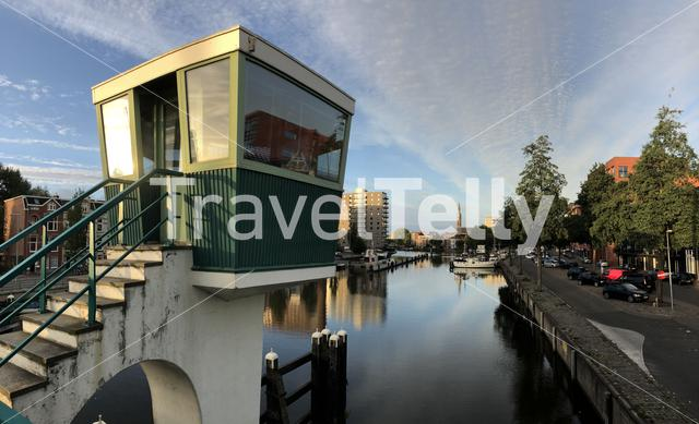 Panorama from the Oosterhaven in Groningen The Netherlands