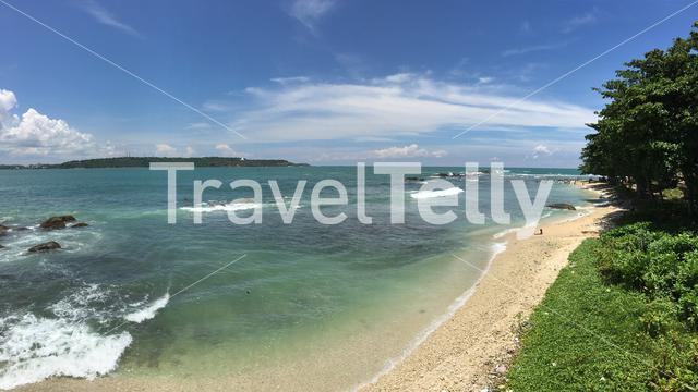 Panorama from the Bay of Galle in Sri Lanka