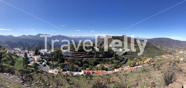Panorama from Artenara on Gran Canaria