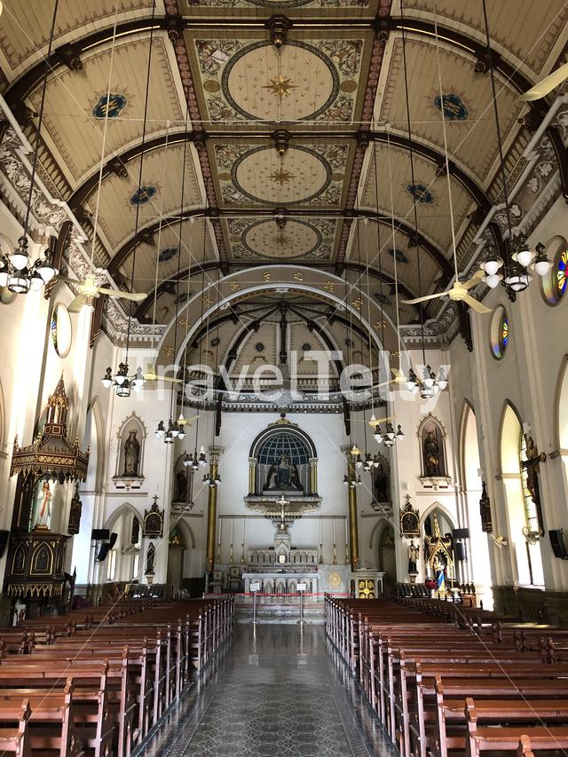 Inside the Holy Rosary Church in Bangkok, Thailand