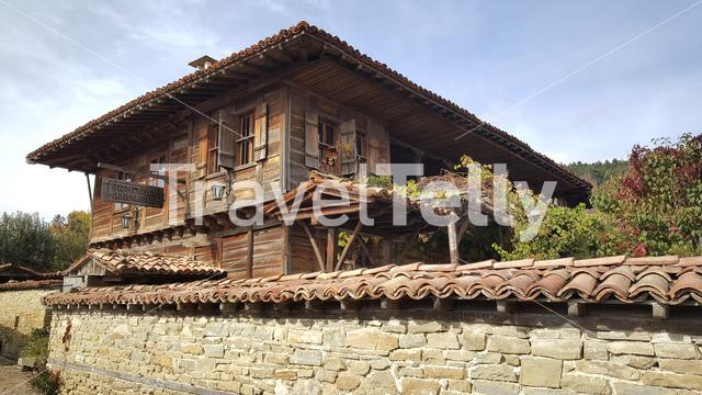 Traditional wooden house in Zheravna Bulgaria