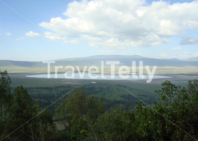 Crater view from Ngorongoro Conservation Area in Tanzania