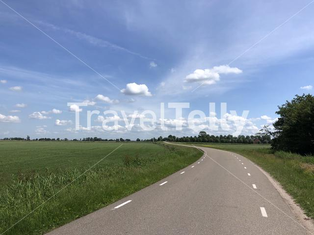 Road in Friesland The Netherlands
