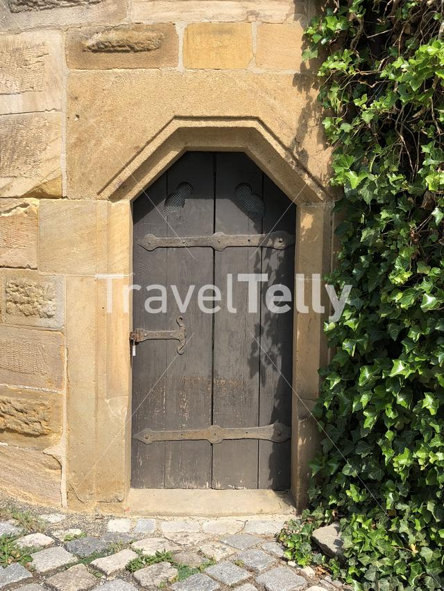 Door at the Altenburg Castle in Bamberg Germany