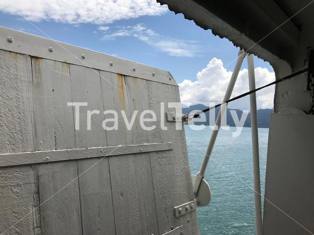 Door at the ferry from to Koh Chang Thailand