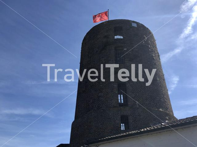 Mill tower horizon observatory in Wesel, Germany