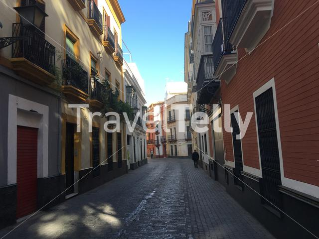 In the streets of seville Spain