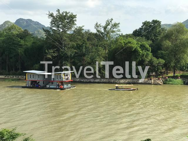Passing by the river kwai in Thailand