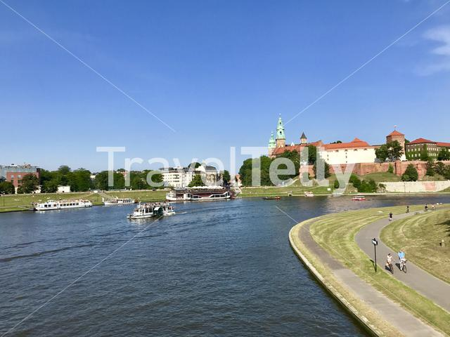 Cracow's view on Wawel Royal Castle
