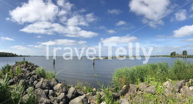 Panorama from the Hegemer lake in Heeg, Friesland The Netherlands