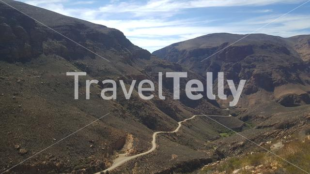 Scenery of the Swartberg Pass in South Africa