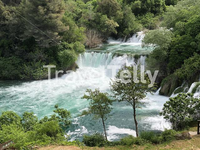Waterfalls in Krka National Park Croatia