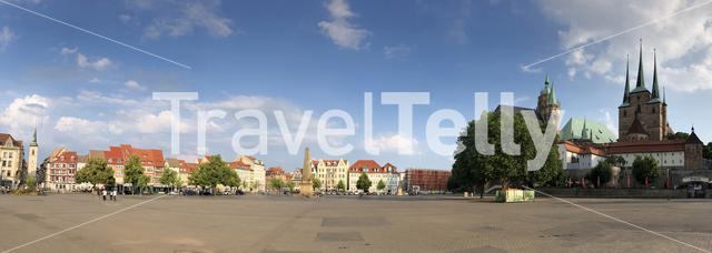 Panorama from the Domplatz Erfurt in Germany