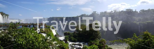 Panorama from the Iguazu Falls from the Brazilian side