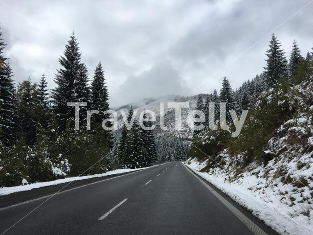 Road through the Low Tatras National Park in Slovakia