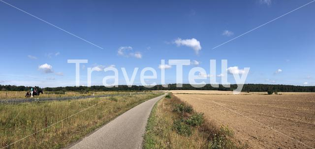Panoramic landscape in Gelderland, The Netherlands