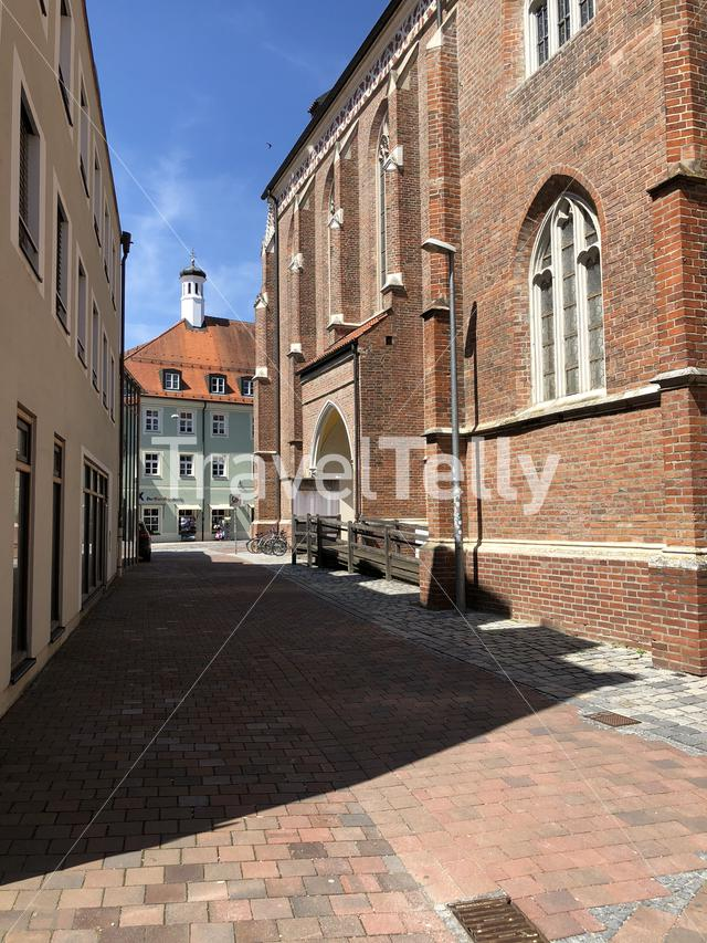 Street in the old town of Landshut Germany