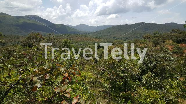 Nature mountain landscape in Cameroon