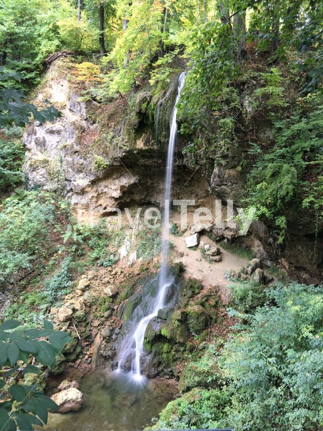 Waterfall at Anna Sinter Cave in Hungary