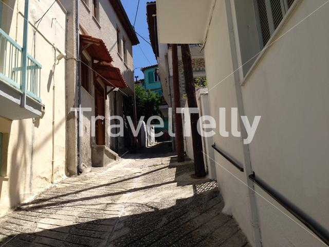 A street in Kavala old town Greece