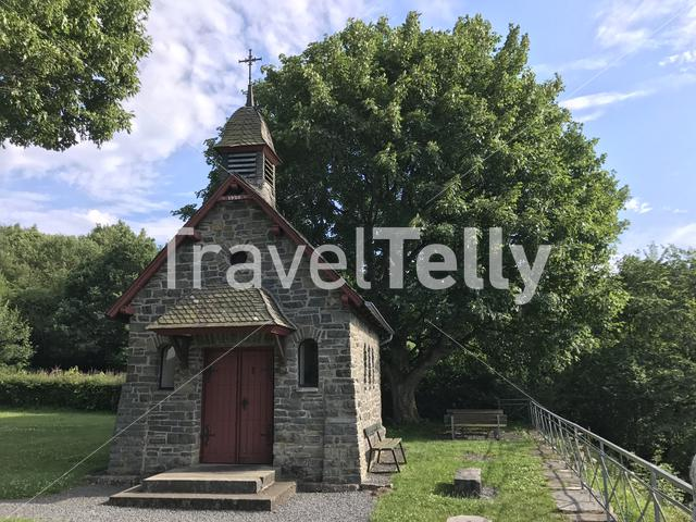 Little church at a hill in Monschau Germany