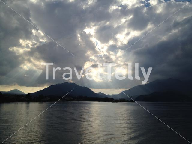 Lake Kawaguchi in the morning