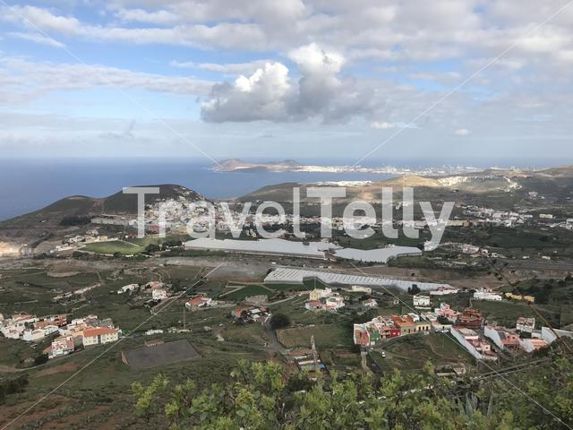 View from mount Arucas in Gran Canaria