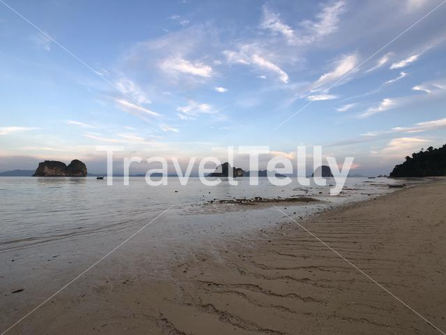 Low tide on Koh Ngai island in Thailand