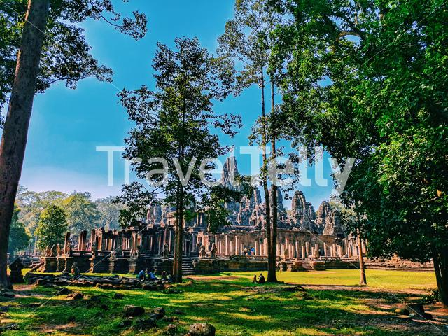 The truly beautiful of nature and temple Siem Reap Cambodia