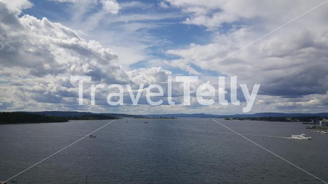 View from the Akershus Fortress in Oslo Norway