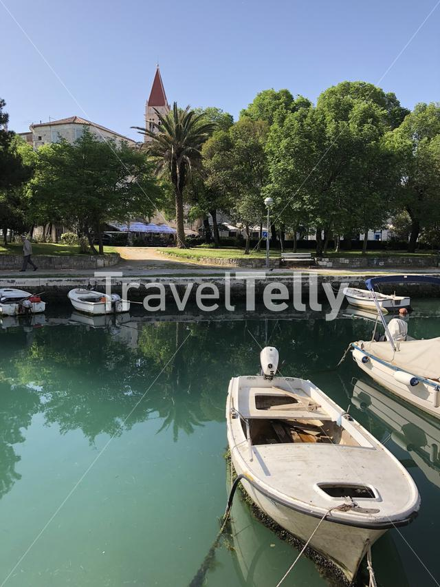 Waterfront with the Cattedrale di San Lorenzo in Trogir, Croatia