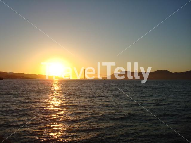 Sunset with the Golden Gate Bridge in San Francisco